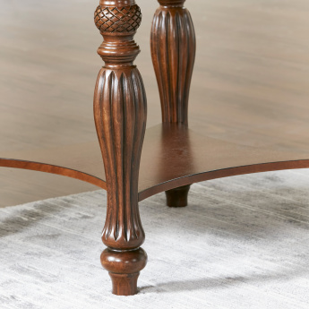 Cape End Table with Carved Legs