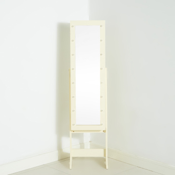 Amelie Standing Jewellery Armoire with Mirror