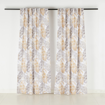 Ariana Printed Curtain Pair 135x240 Cms Curtains Curtains