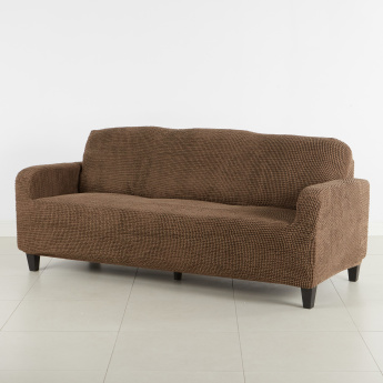 Glamour Super Stretch Textured 3-Seater Sofa Cover - 180x220 cms