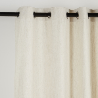 Herringbone 2-Piece Textured Curtain Set - 135x240 cms