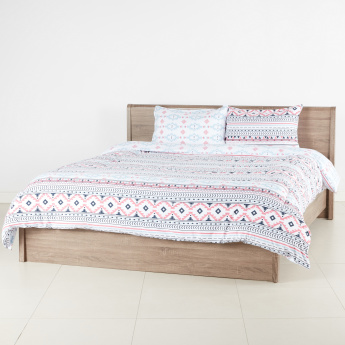 Graphic Printed 3-Piece Super King Comforter Set - 260x250 cms