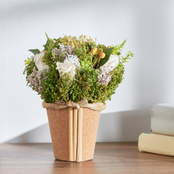 Macine Mixed Flower with Cork Planter