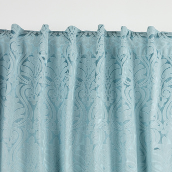 Damask Jacquard 2-Piece Curtain Set - 140x240 cms
