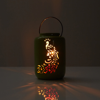Lantern with Peacock Cutouts