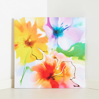 Hibiscus Flower Printed Canvas
