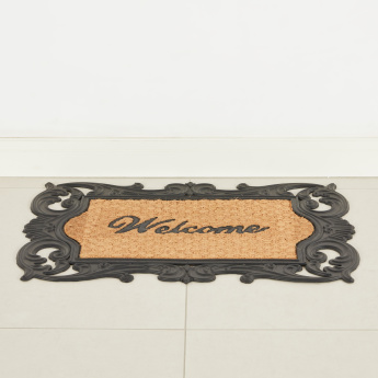 Ornate Textured Rectangular Doormat - 45x75 cms