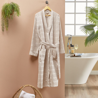 Infinity Textured Bathrobe with Tie Up - Large
