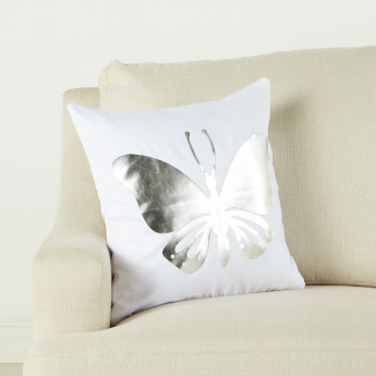 Lillian Butterfly Printed Cushion Cover - 45x45 cms