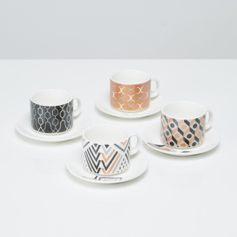 Luxe 9-Piece Teacup and Saucer Set