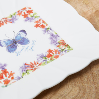 When Flowers Bloom Petite 4-Piece Plate Set - 15x15 cms