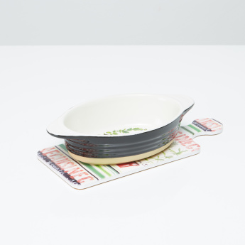 Gardens 2-Piece Cuisine Gratin with Trivet Set