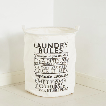 Rules Printed Laundry Hamper