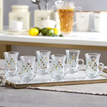 Liana Glass 6-Piece Tea Tumbler with Handle Set