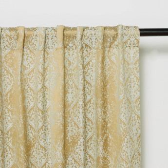 Cascade 2-Piece Printed Lined Curtain Set - 130x240 cms