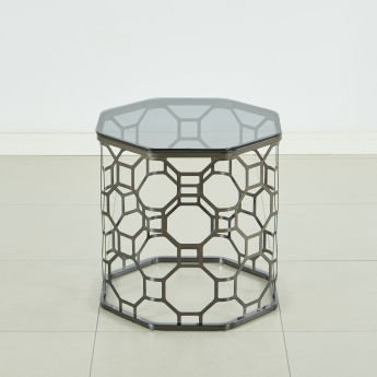 Morris End Table with Glass Top