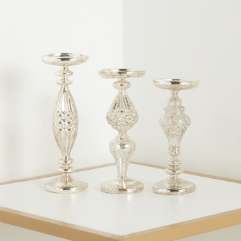 Reze 3-Piece Pillar Candle Holder Set