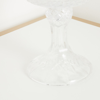 Dorun Clear Glass Decorative Stem Bowl