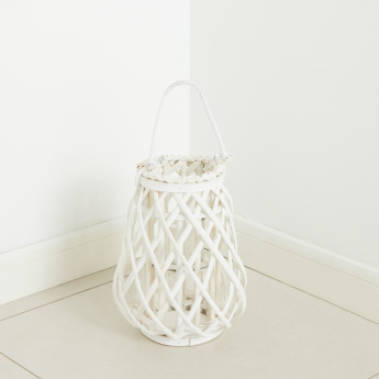 Nanning Willow Lantern with Glass