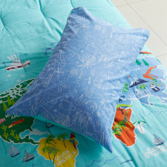 Carry Printed 2-Piece Single Comforter Set - 135x220 cms
