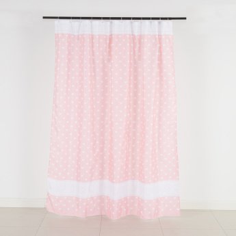 Cute Hearts Polyester Shower Curtain - 180x200 cms