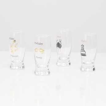 Celebration Printed Mini Glass - Set of 4
