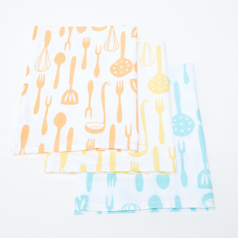 Spoony Printed Kitchen Towels - Set of 3