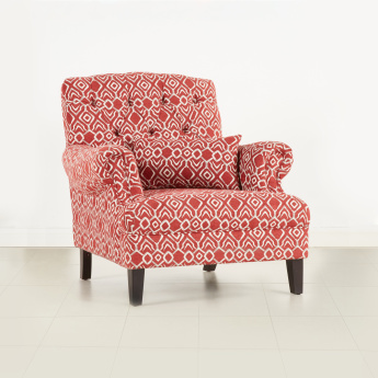 Emily Tufted 1-Seater Armchair with Scatter Cushion