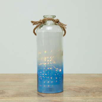 Agatha Ombre Printed Lantern with LED Fairy Lights