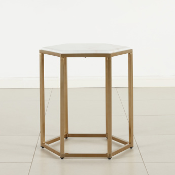 Torro End Table with Marble Top
