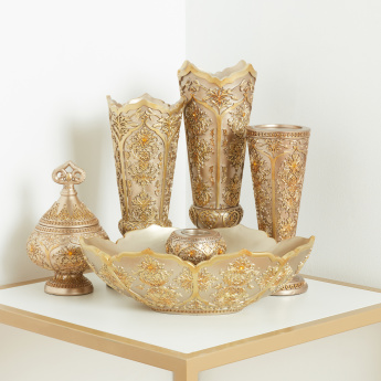 Melh Decorative Textured Urn with Lid