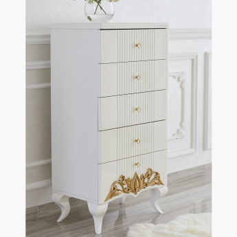 Natalie Decorative 5-Drawer Chest of Drawers