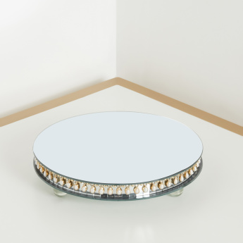 Jijel Round Candle Platter with Mirror Finish