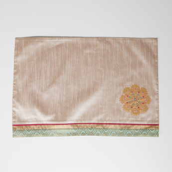Zeba Rectangular Placemat with Embroidered Applique