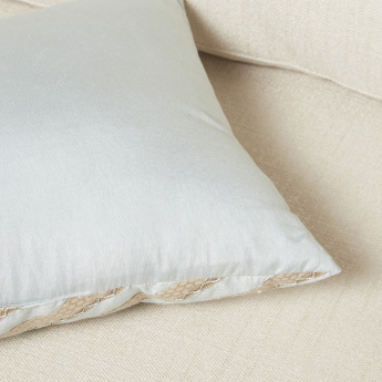Falaknuma Gota Patti Filled Cushion - 30x50 cms