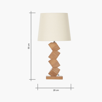 Alaska Wooden Table Lamp - 55 cms
