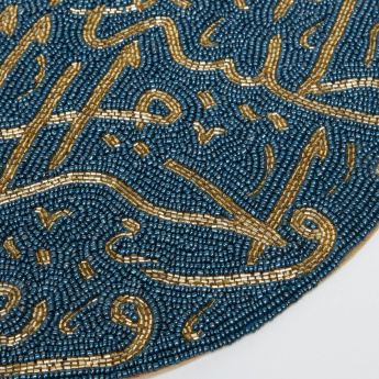 Beaded Calligraphy Placemat