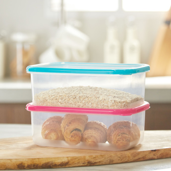 Clip Fresh Eazy Rectangular 2-Piece Food Container Set - 1.2 L