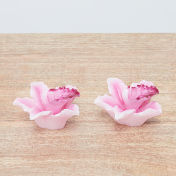 Orchid Shaped Candles - Set of 2