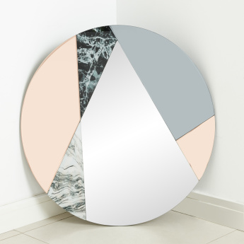 Facet Sense Round Wall Mirror - 80 cms