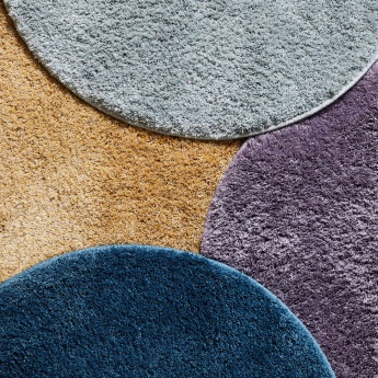 Heather Textured Round Rug - 66 cms