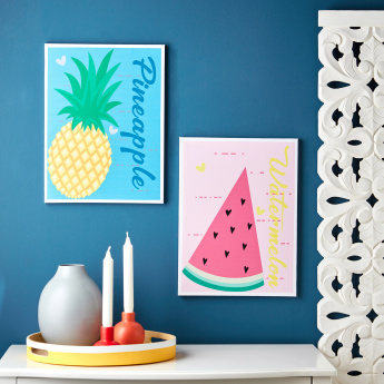 Shay Pineapple Printed Canvas Wall Art