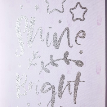 Shine Bright Glitter Canvas Print