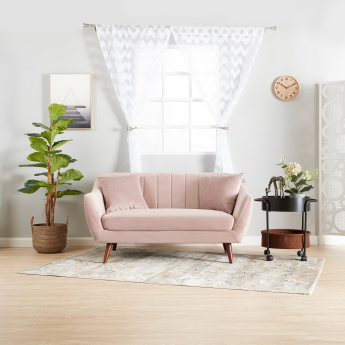 Ivy 2-Seater Striped Sofa with Square Arms