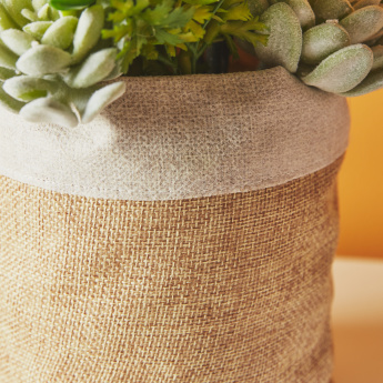 Artificial Succulents in Burlap Pot - 28 cms