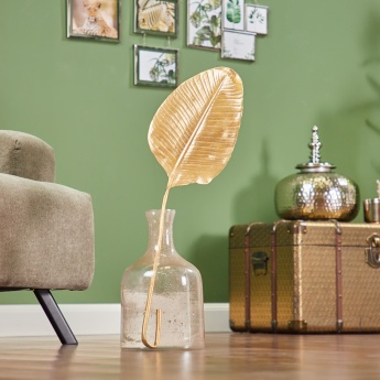 Decorative Glossy Leaf Showpiece