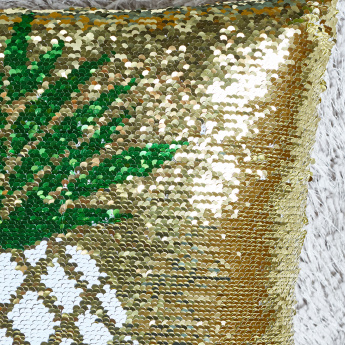 Pineapple Sequinned Filled Cushion - 45x45 cms
