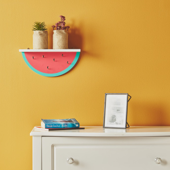 Watermelon Wall Shelf with Hooks