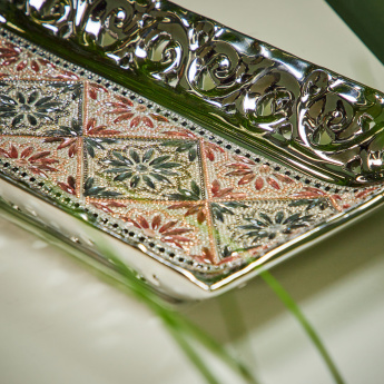 Sujja Embellished Rectangular Decor Tray